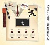 creative vintage website...   Shutterstock .eps vector #301474199