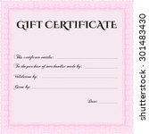 gift certificate. with complex... | Shutterstock .eps vector #301483430