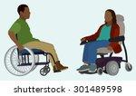 black or african american man...   Shutterstock .eps vector #301489598