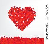valentines hearts. vector... | Shutterstock .eps vector #301499726