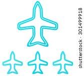 cyan line aircraft logo design...