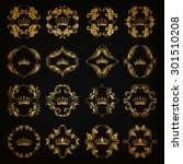ornate vector set. decorative... | Shutterstock .eps vector #301510208