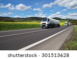 White Tanker And Trucks Drivin...