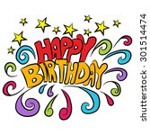 an image of a happy birthday... | Shutterstock .eps vector #301514474