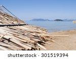 sunny beach | Shutterstock . vector #301519394