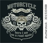 motorcycle design template logo.... | Shutterstock . vector #301533488