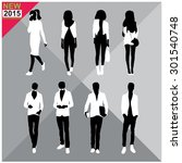set of man and women... | Shutterstock .eps vector #301540748