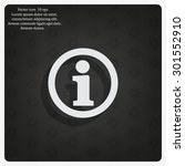 information sign icon  vector...   Shutterstock .eps vector #301552910
