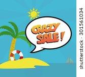 summer sale illustration over... | Shutterstock .eps vector #301561034