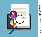 curriculum vitae cv resume...   Shutterstock .eps vector #301562690
