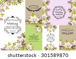 wedding invitation cards with... | Shutterstock .eps vector #301589870