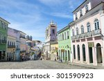 historic city center of... | Shutterstock . vector #301590923