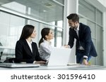 young people working in the... | Shutterstock . vector #301596410