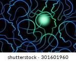 social psychology concept as a... | Shutterstock . vector #301601960