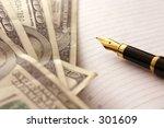 dollars and pen | Shutterstock . vector #301609
