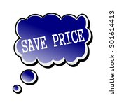 save price white stamp text on... | Shutterstock . vector #301614413