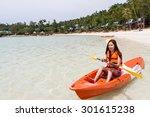 Beautiful Girl With Kayak...