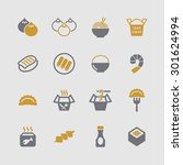 asian traditional food icons | Shutterstock .eps vector #301624994