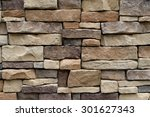 stone wall texture background... | Shutterstock . vector #301627343