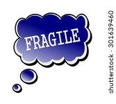 fragile white stamp text on... | Shutterstock . vector #301639460