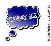 clearance sale white stamp text ... | Shutterstock . vector #301639463