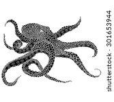 octopus illustration    octopus ...   Shutterstock .eps vector #301653944