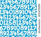 seamless texture digits | Shutterstock .eps vector #301655000