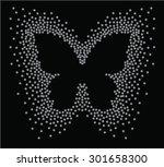 butterfly stud embellishment... | Shutterstock .eps vector #301658300