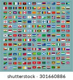 flags of the world. vector  | Shutterstock .eps vector #301660886