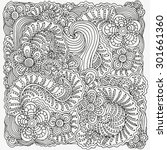 pattern for coloring book. ... | Shutterstock .eps vector #301661360
