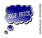 half price white stamp text on... | Shutterstock . vector #301661468
