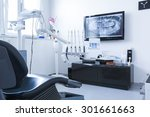 dentists chair and tools with x ... | Shutterstock . vector #301661663