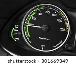 hybrid car instruments panel | Shutterstock . vector #301669349