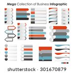 collection of infographic... | Shutterstock .eps vector #301670879