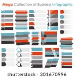 collection of infographic... | Shutterstock .eps vector #301670996