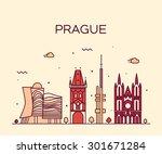 Prague Skyline Detailed...
