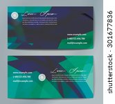 stylish business cards with... | Shutterstock .eps vector #301677836