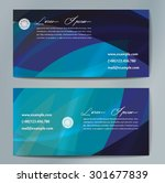 stylish business cards with... | Shutterstock .eps vector #301677839
