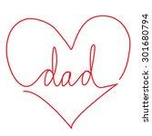 """handwritten """"dad"""" text in the...   Shutterstock .eps vector #301680794"""