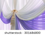 luxury sweet white and violet... | Shutterstock . vector #301686800
