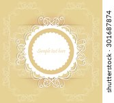 vintage decorative border with... | Shutterstock .eps vector #301687874