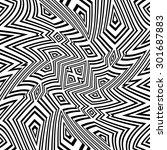 black and white vector seamless ...   Shutterstock .eps vector #301687883