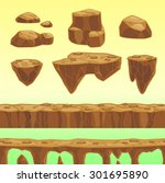 funny cartoon stones  seamless...