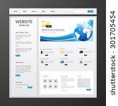 business vector website... | Shutterstock .eps vector #301705454