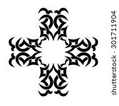 tribal tattoo vector design... | Shutterstock .eps vector #301711904