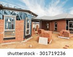 new residential construction... | Shutterstock . vector #301719236