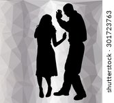 silhouette dancing people with... | Shutterstock .eps vector #301723763