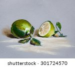 limes on isolates background... | Shutterstock . vector #301724570