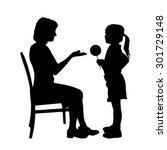 vector silhouette of family on... | Shutterstock .eps vector #301729148