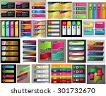 colorful modern text box... | Shutterstock .eps vector #301732670